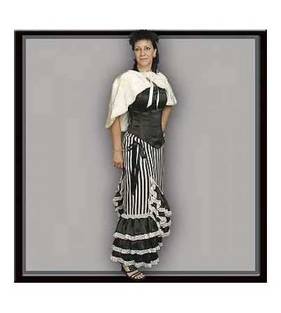 Jupe longue Genevieve noire et blanche