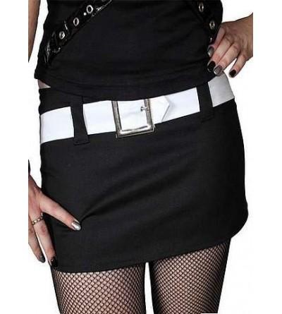 Mini-jupe Avenger noire et blanche