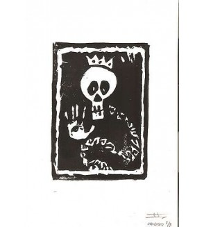 Linogravure Snake king (édition limitée)
