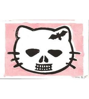 Linogravure Goodbye Kitty (édition limitée)