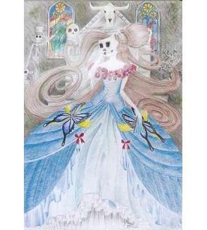 Carte postale Le masque de la mort