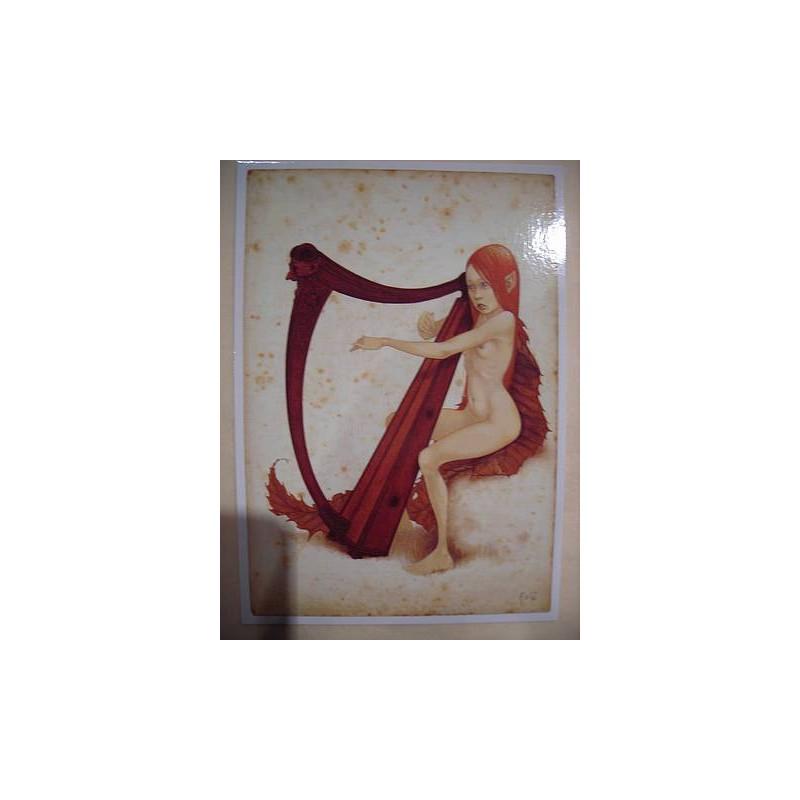 Fée jouant de la harpe