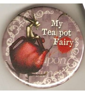 Badge Hélène Larbaigt : My tea pot fairy
