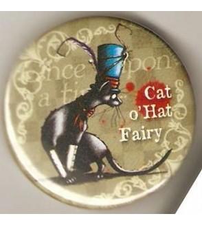 Badge Hélène Larbaigt : Cat o'hat fairy