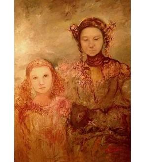 Carte postale La mère et l'enfant