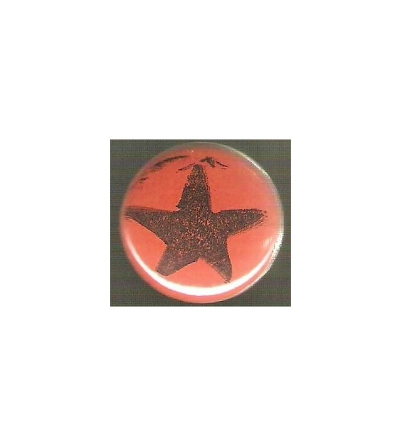 Badge orange Etoile noire