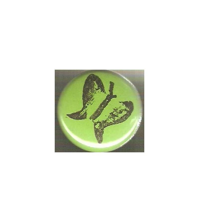 Badge vert papillon