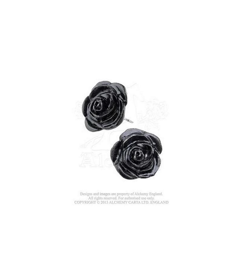 Paire de boucles d'oreilles Black rose