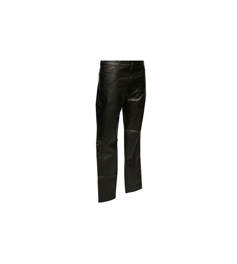 Pantalon en skai noir mat