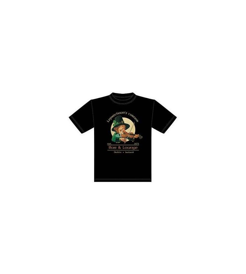 T-shirt noir Leprechaun's corner