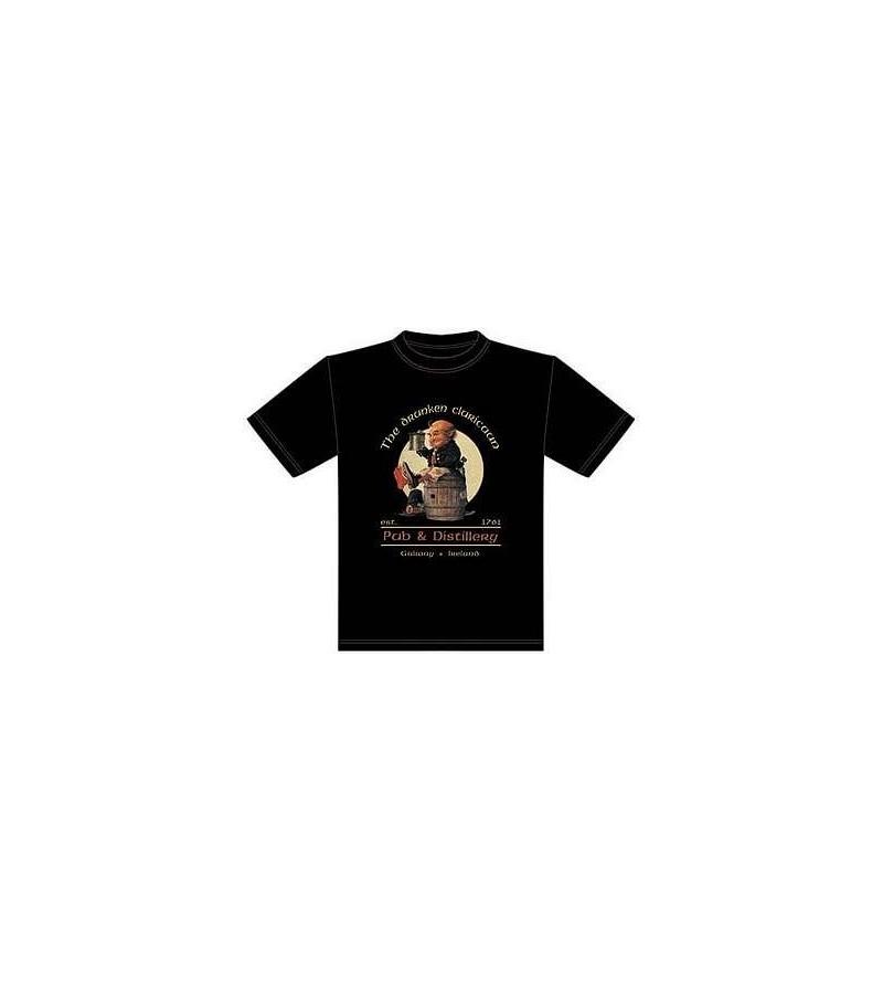 T-shirt noir Drunken cluricaun