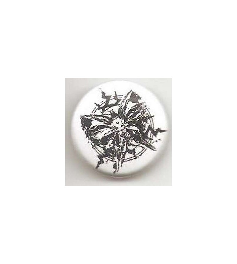 Badge Papillon noir et blanc