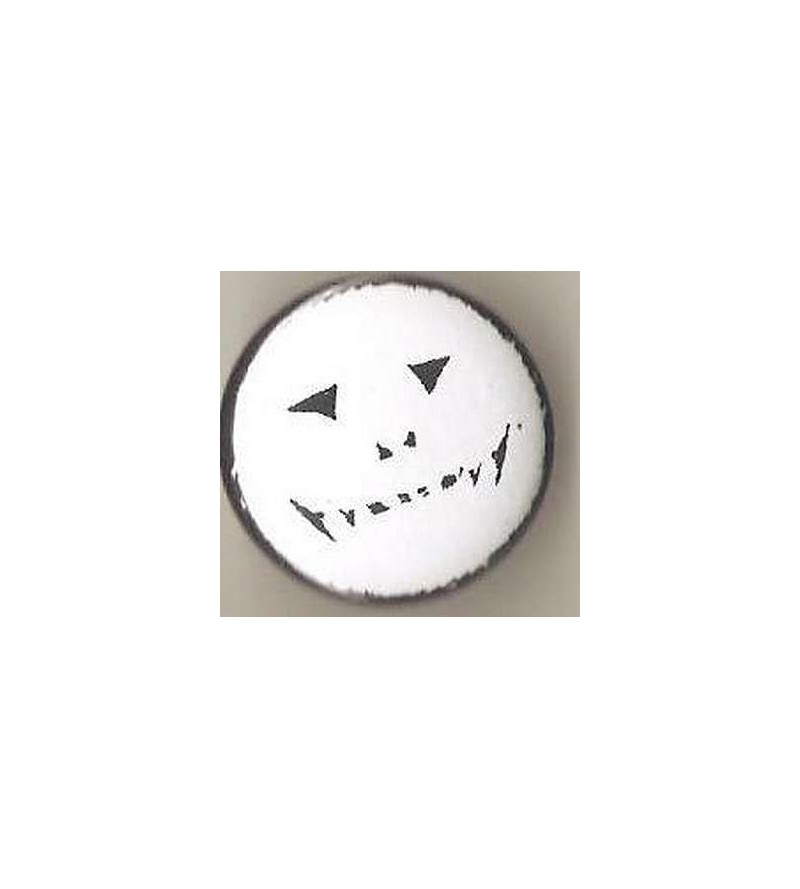 Badge Smiley blanc