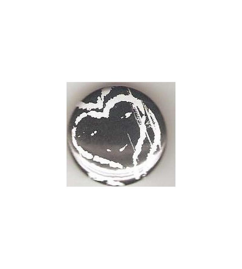 Badge cœur noir