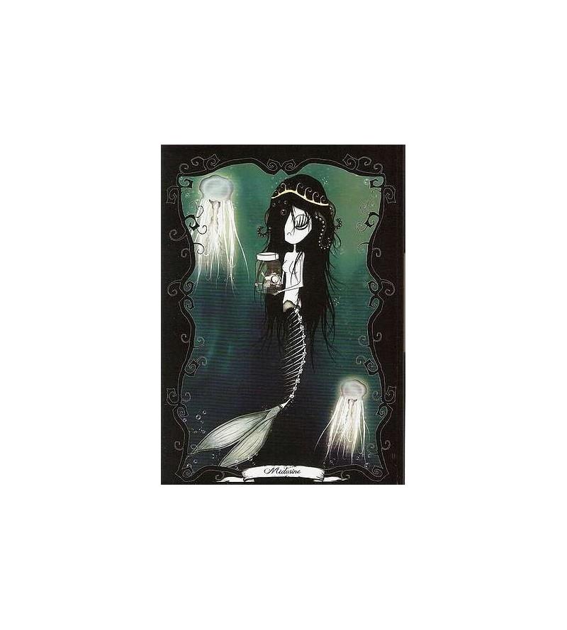 Carte postale Le petit monde tentaculesque d'Emilie : Médusine