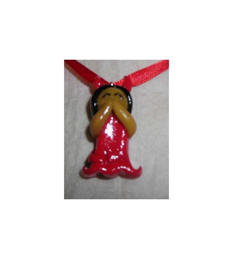 Collier Diablesse rouge et noire