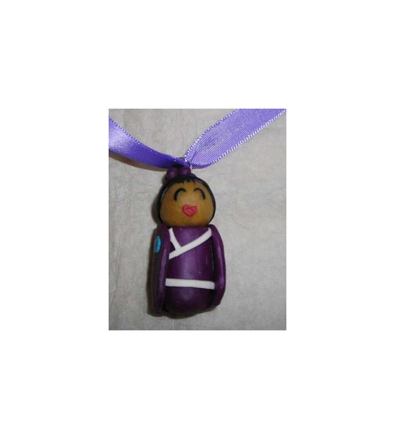 Collier Femme en kimono violet