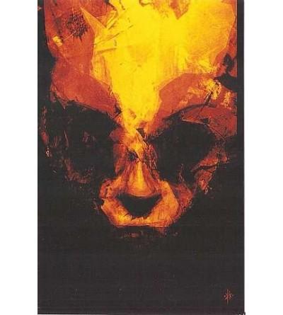 Carte postale Visage couleur flamme