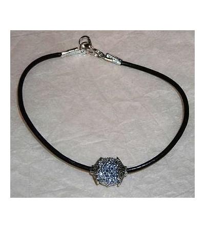 Bracelet avec perle argentée