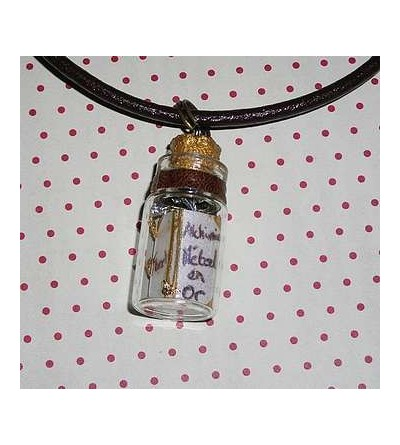 Collier fiole Alchimie