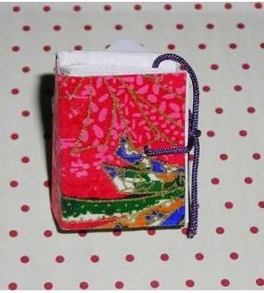 Bague livre en papier origami rouge à motifs asiatiques