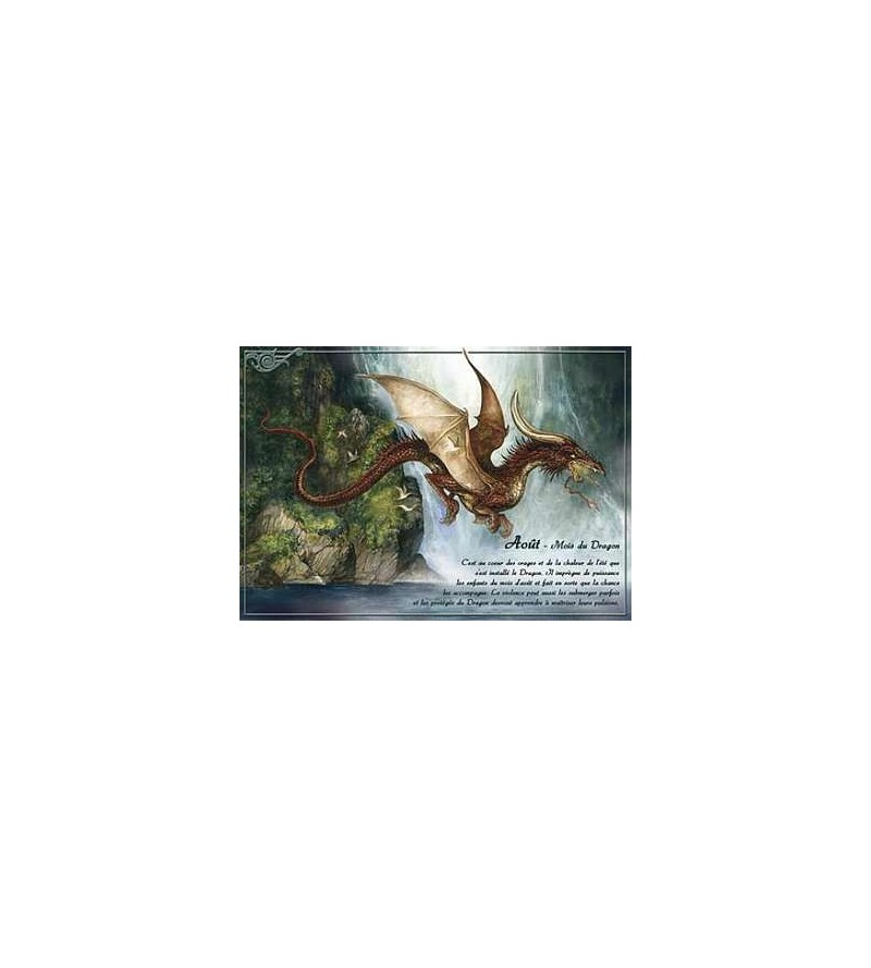 Carte postale Août – mois du dragon