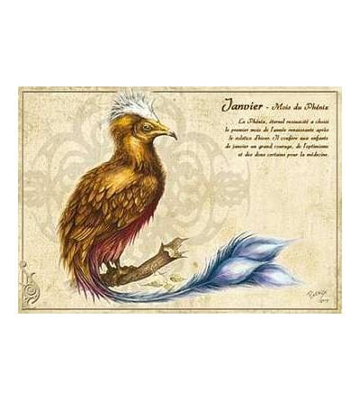 Carte postale Janvier – mois du phénix