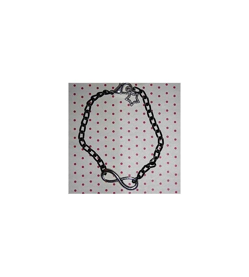 Bracelet noir Infini