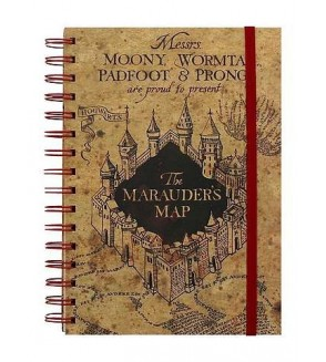 Carnet à spirales Harry Potter : The marauder's map