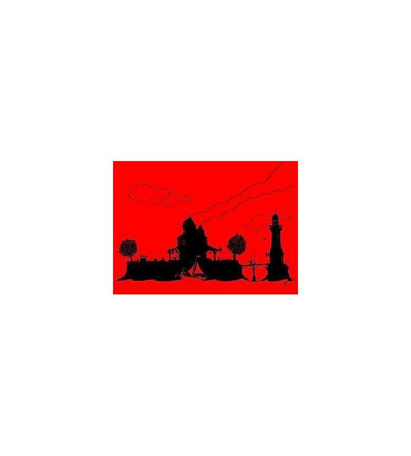 Carte postale L'île au phare (Clément Fournier)