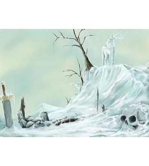 Affichette Cerf de glace