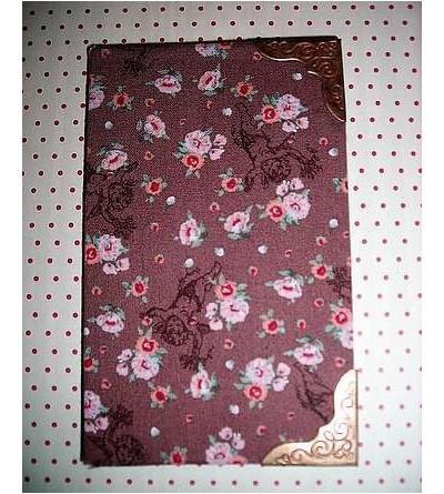 Carnet avec tissu marron – anges et fleurs