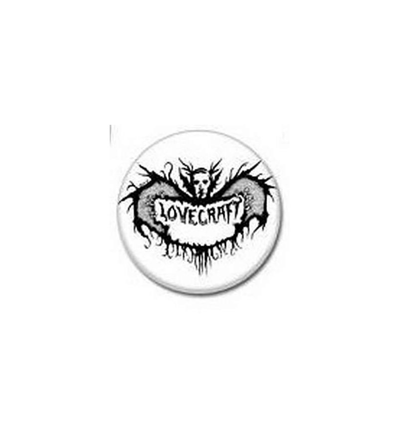 Badge Lovecraft noir et blanc