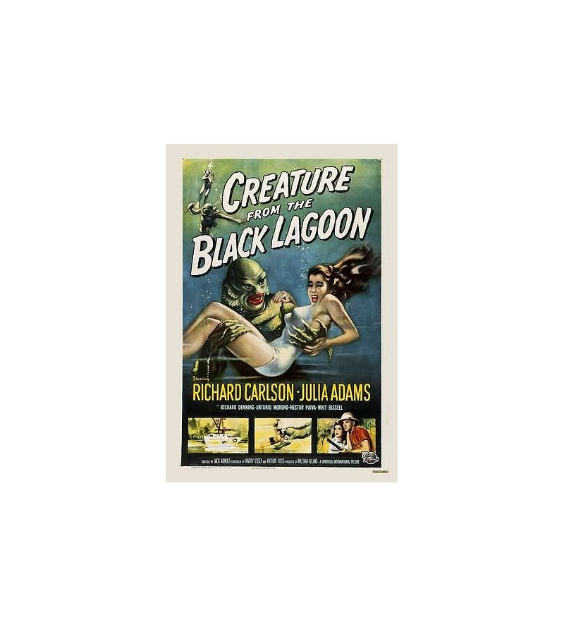 Carte postale Creature from the black lagoon