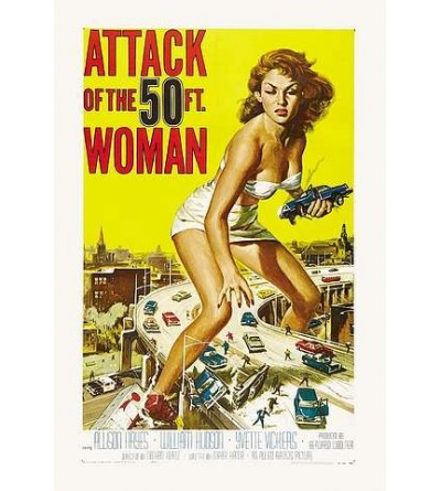 Carte postale Attack of the 50 ft. woman