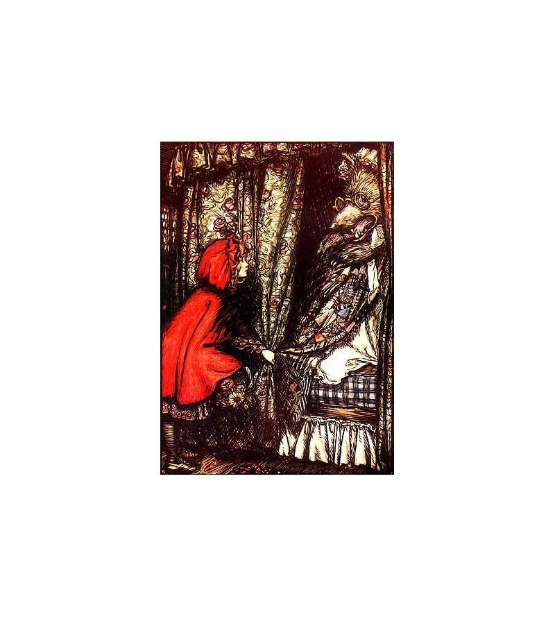 Carte postale Le petit chaperon rouge