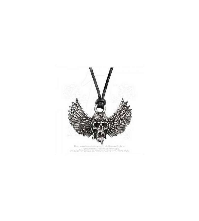Collier Airbourne - winged skull
