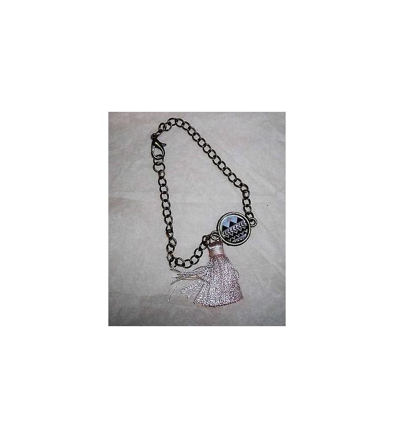 Bracelet motifs indiens & pompon