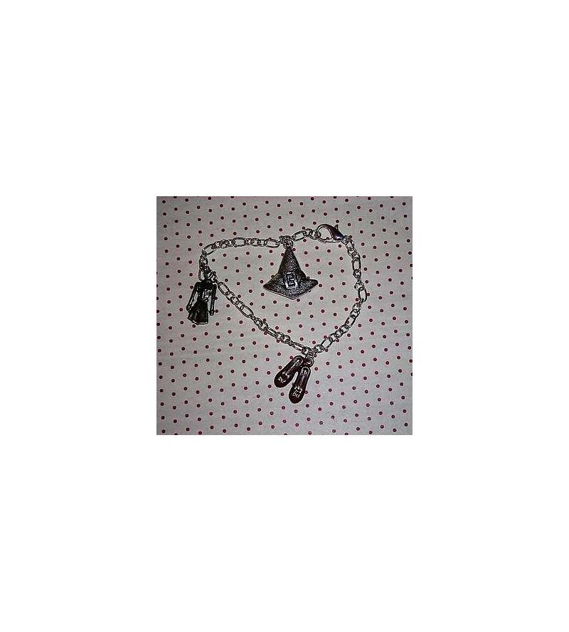 Bracelet breloques Sorcière