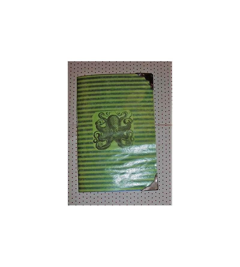 Carnet à couverture transparente Pieuvre