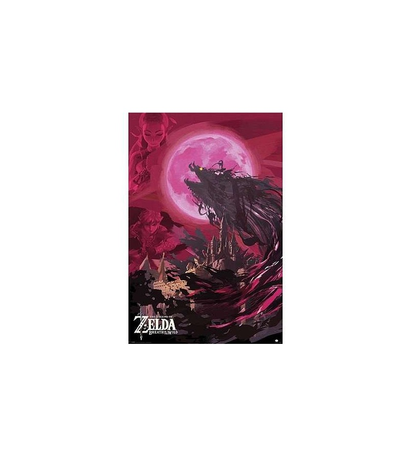Affiche Zelda breath of the wild – Ganon blood moon