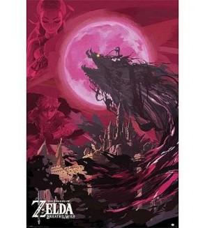 Affiche Zelda breath of the wild – Ganon blood moon