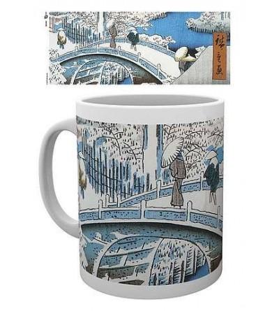 Mug Japanese art : The drum bridge by Utagawa Hiroshige