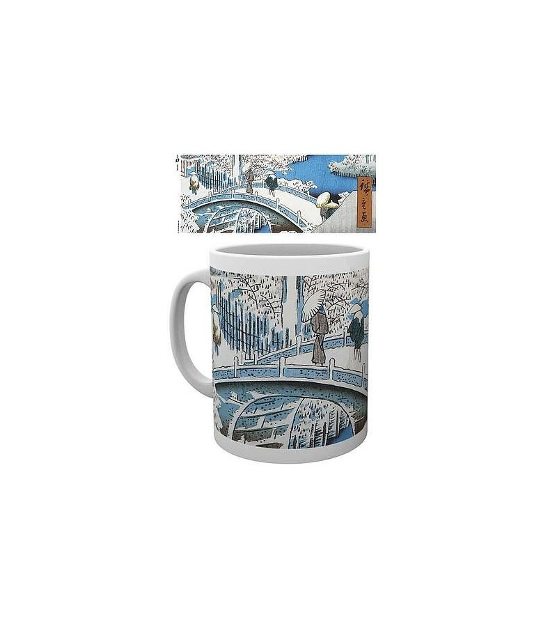 Mug Japanese art : The drum bridge by Utagawa Hiroshige