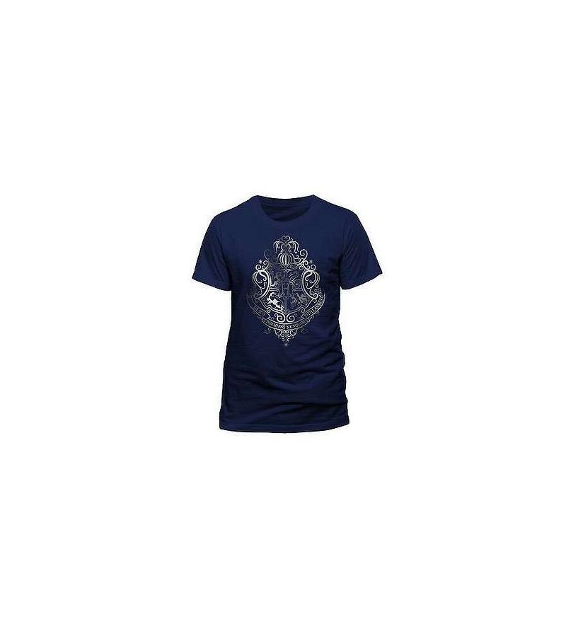 T-shirt Harry Potter : Silver foil crest