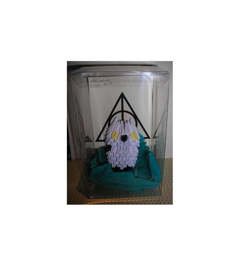 Figurine en origami 3D : Hedwige