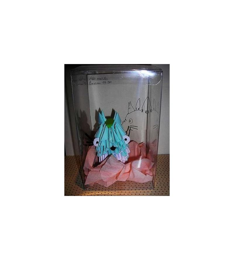 Figurine en origami 3D : Totoro bleu