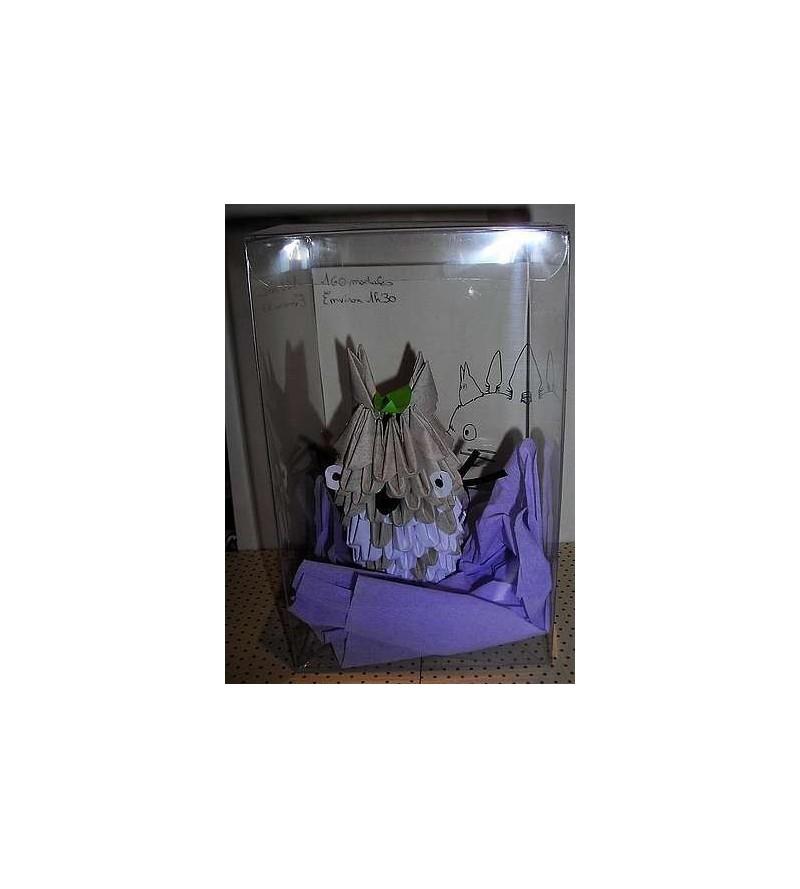 Figurine en origami 3D : Totoro gris