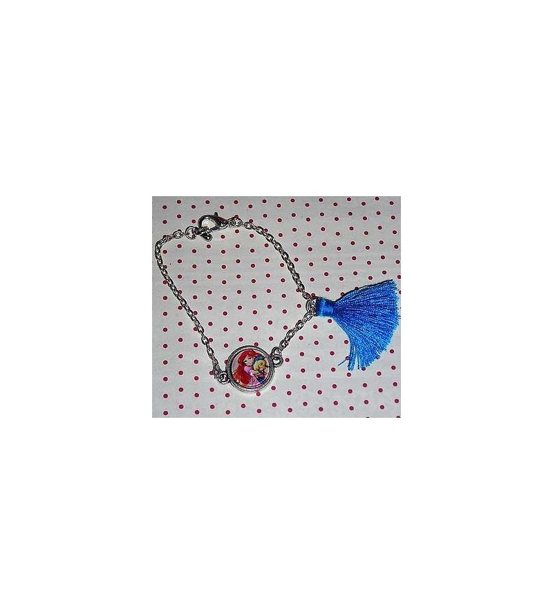 Bracelet cabochon Petite sirène