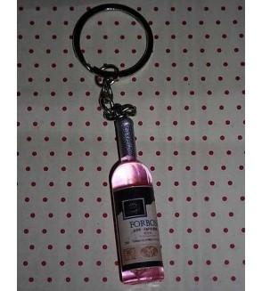 Porte-clés Bouteille rose